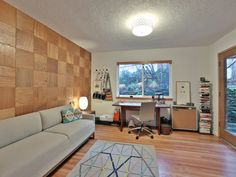 Your guide to modern homes in Portland Oregon. Featuring mid century modern, contemporary modern homes and condos for sale in Portland. Homes In Portland Oregon, Portland House, Modern Homes For Sale, Condos For Sale, Wood Wall, Modern Contemporary, Corner Desk, This Is Us, Mid Century