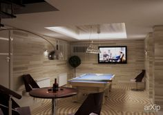 Дизайн интерьера бильярдная: интерьер, зd визуализация, квартира, дом, современный, модернизм, бильярдная, 20 - 30 м2, интерьер #interiordesign #3dvisualization #apartment #house #modern #billiardroom #20_30m2 #interior arXip.com