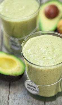 Mango-Avocado Smoothie; I'd leave out the agave nectar since the mango & pineapple will add plenty of sweetness