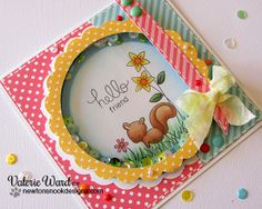 Sweet Shaker Card by Valerie Ward using stamps by Newton's Nook Designs