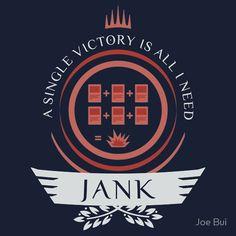 Magic the Gathering - Jank Life V1 #mtg #shirt #design #humor #funny #witty #redbubble #magicthegathering #epicupgrades #magic #jank