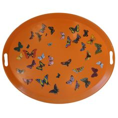 Butterfly Tray Table by Piero Fornasetti | From a unique collection of antique and modern serving pieces at http://www.1stdibs.com/dining-entertaining/serving-pieces/