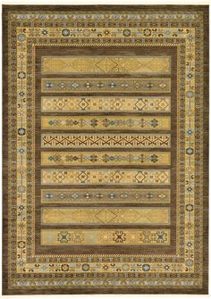 Land of Gabbeh Rugs Modern Contemporary Persian Design Brown 8' x 11' FT Area Rug - Perfect for any Home Décor - Living Room / Dinning Room / Play Room / Bedroom / Kids Room