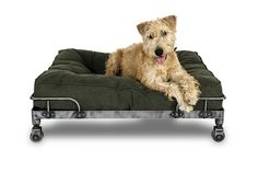 Industrial dog bed - Wheely - Stonewashed Canvas Green - Lord Lou