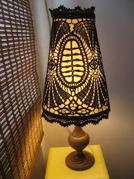 Resultado de imagen de pantallas de lampara de crochet