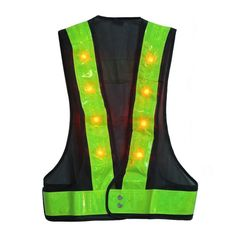 Bicycle Accessories Brave Reflective Safety Vest With Led Signals Reflective Safety Vest With Led Signals Bicycle Light