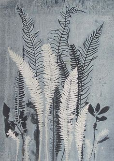 Original hand printed botanical monoprint. by fieldandhedgerow