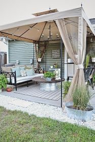 How To Find Backyard Porch Ideas On A Budget Patio Makeover Outdoor Spaces – 2019 - Patio Diy Budget Patio, Diy Patio, Small Patio Ideas On A Budget, Small Patio Canopy Ideas, Cover Patio Ideas, Outdoor Patio Ideas On A Budget Diy, Covered Deck Ideas On A Budget, Cheap Patio Ideas, Small Covered Patio
