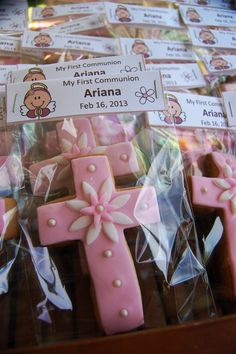 Cross Cookie Favors First communion Baptism by designsbyemilys, $27.00