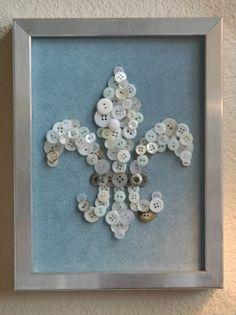 Fleur-de-lis Button Art#Repin By:Pinterest++ for iPad#