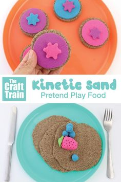 Make fun pretend food using moldable Kinetic Sand - Life and hacks Pretend Food, Play Food, Pretend Play, Sensory Activities, Toddler Activities, Sensory Play, Sand And Water Table, Foam Slime, Sand Play