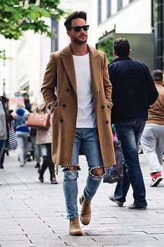 Moda casual jeans ideas style ideas for 2019 Hipster Mode, Male Hipster, Mantel Outfit, How To Wear Sneakers, Herren Outfit, Denim Jacket Men, Mens Jeans Outfit, Winter Fashion Outfits, Fashion Ideas