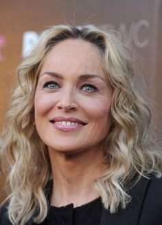 Sharon Stone Medium Wavy Cut -