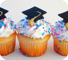 Graduation Party Favor Cupcake Toppers 12 by LittleMonsterHugs. , via Etsy.