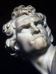 David di Gian Lorenzo Bernini (marmo, 170 cm Roma, Galleria Borghese)  riprende il mito biblico di Davide e Golia G.Battaglia Gela