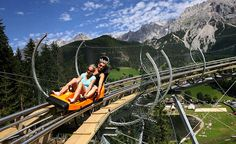 Near Ramsau am Dachstein, Austria:  Rittisberg Coaster in Schladming, Austria;  the Arena Coaster is almost three hours away in Zell am Ziller, Austria (near Mayrhofen);  these are like a combination of a tobaggan, bobsled ride (like Disneyland's Matterhorn), and a rollercoaster