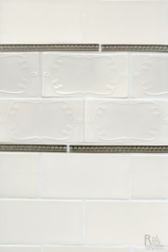 A sweet twist on white subway tile... The Ganache 3x6 shown in Cashmere by Red Rock Tileworks