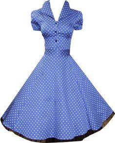 Pretty Kitty Fashion Robe Bleu et Pois Blanc Disponible jusqu'à la taille 54 Pretty Kitty Fashion, http://www.amazon.fr/dp/B008VX1OZS/ref=cm_sw_r_pi_dp_u7Votb0JGFKAE