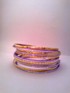 conjunto de braceletes violeta R$12.00