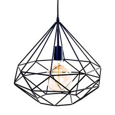 Suspension Azalée métal Noir LIGNES DROITES + AMPOULE Filament - Scandinave Moderniste industriel Plafonnier lampe Lustre Wood Lamps, Iron Chandeliers, Pendant Lamp, Lights, Home Deco, Geometric Mobile, Pendant Light, Light, Nordic Interior Design