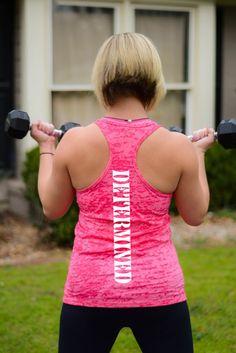 Women's Workout Determined Burnout Racerback Tank Top
