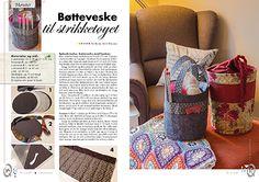 Quiltemagasinet 1-2016   Bøtteveske til strikketøyet