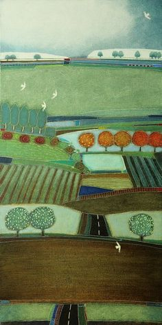 648 - Far away across the field - 60x120 Landscape by Rob van Hoek