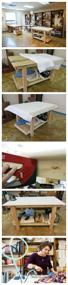 DIY Professional Ironing Table for your Sewing Room | Brooks Ann Camper http://www.brooksann.com/diy-professional-ironing-table/