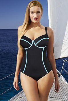 ed3b5181ff383 Underwire - Tropiculture St. Barts Underwire Swimsuit Plus Size Swimwear