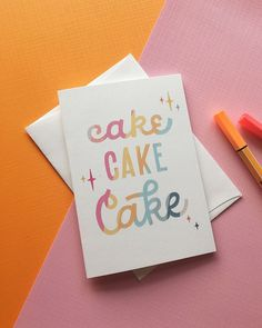 Sure, let's say we're celebrating you... but we all know it's an excuse for me to eat cake. These little guys are up in the shop! Enter the code WOOHOO for 10% off your order! lettering, doodling, graphic design, typography, hand lettering, ipad lettering, procreate, colorful, quotes, cake, birthday card, celebration, party, rainbow