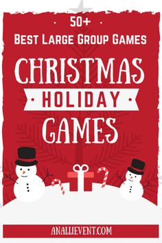 These 5 (Plus 2 bonus) Christmas Games are my favorites, especially for large groups. We have played them all at our annual Christmas party and they are all huge hits. Be sure and check out all 50 games in the ideas at the end of the post. Christmas Party Games For Groups, Party Games Group, Office Party Games, Adult Christmas Party, Large Group Games, Xmas Games, Dinner Party Games, Holiday Party Games, Adult Party Games For Large Groups