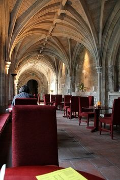 Take coffee or tea in  the Cloister Café at the 12th century Bartholomew the Great church in London