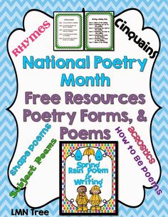 LMN Tree: National Poetry Month Free Resources