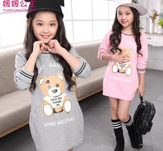 Cheap clothing capes, Buy Quality dress poodle directly from China clothing safety Suppliers: Children's Clothes Long T-shirt for Teenagers Girls Clothing School Wear Bears Girls T-shirt Character Children Source by fmuozsalamanca school Girl Outfits, Casual Outfits, Cute Outfits, Fashion Outfits, Clothes For Women In 20's, Children Clothes, Little Girl Dresses, Dress Girl, Baby Dresses