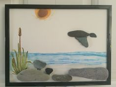 NO STONE UNTURNED Pebble Art by Dawn - Goose heading home.