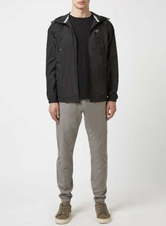 HYPE Black Technical Jacket* Mens Raincoat, Asos, Leather Jacket, Jackets, Shopping, Clothes, Collection, Black, Style