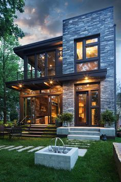 This beautiful contemporary residence was designed and built by John Kraemer & Sons, located on Lake Calhoun, the largest lake in Minneapolis, Minnesota.
