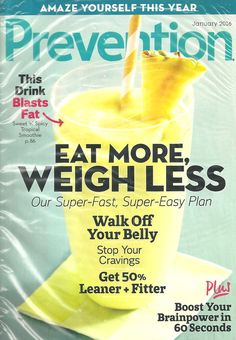 PREVENTION January 2016 Eat More, Weigh Less Health Fitness English Monthly