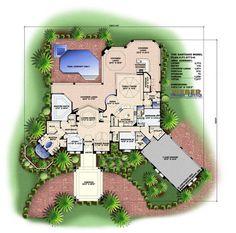 Santiago House Plan-Mediterranean House Plans