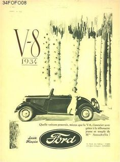 Old car and truck advertisements, Ford Vintage Auto, Vintage Cars, Vintage Ladies, Transportation Industry, Car Restoration, Retro Advertising, Car Illustration, Car Posters, Ford Motor Company