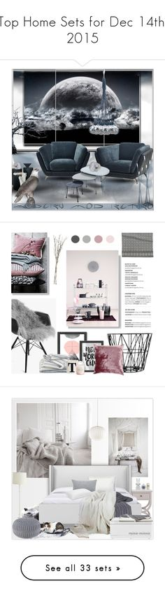 """Top Home Sets for Dec 14th, 2015"" by polyvore ❤ liked on Polyvore featuring interior, interiors, interior design, home, home decor, interior decorating, Daum, Trend Lighting, Retrò and Nuevo"
