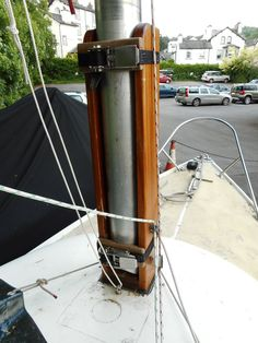 Major tabernacle for the mast on a 31' Gaff Cutter | Hinged