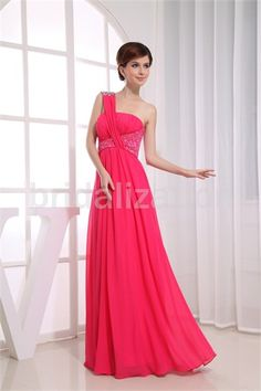 Floor-Length Chiffon One Shoulder Date Dress