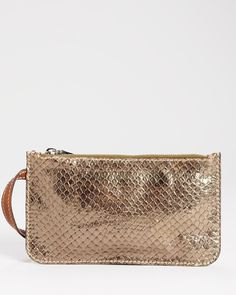 Brand New D Genuine Leather Snake Embossed Clutch- Made in Italy at Modnique.com
