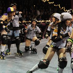 Take your lady friends to a roller derby game for a girls' night out they won't forget!