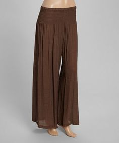 Loving this Brown Palazzo Pants - Women & Plus on #zulily! #zulilyfinds