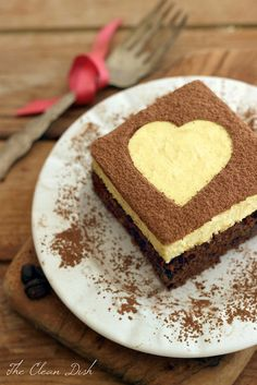 The perfect sweet treat for your Valentine - Grain-free Tiramisu Double Chocolate Brownies {Gluten-free + Refined Sugar-free}