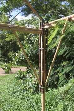 The Bambooth!   Whispering Winds Bamboo Bamboo Roof, Bamboo Art, Bamboo Garden, Bamboo Building, Green Building, Building Structure, Bamboo Structure, Shade Structure, Bamboo Architecture