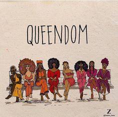 Queendom melanin black is beautiful black women queens Black Love Art, Black Girl Art, My Black Is Beautiful, Black Girl Magic, Art Girl, Black Girls, Black Girl Cartoon, Beautiful Friend, Arte Black