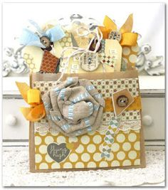 Cute idea - I love tags and make them a lot but have never used buttons. This inspires me to dig out the button box!